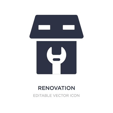 renovation icon on white background. Simple element illustration from Buildings concept. renovation icon symbol design.