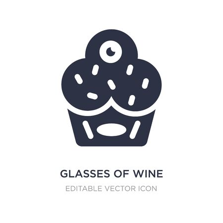 glasses of wine icon on white background. Simple element illustration from Food concept. glasses of wine icon symbol design.