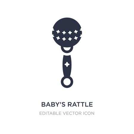 babys rattle icon on white background. Simple element illustration from Other concept. babys rattle icon symbol design.