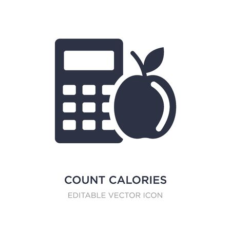 count calories icon on white background. Simple element illustration from General concept. count calories icon symbol design.