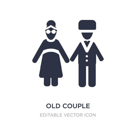 old couple icon on white background. Simple element illustration from People concept. old couple icon symbol design. Illusztráció