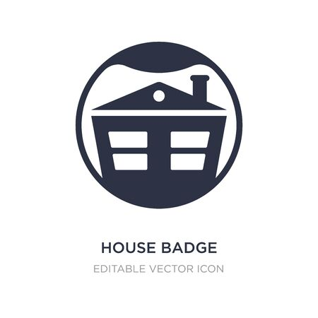 house badge icon on white background. Simple element illustration from Commerce concept. house badge icon symbol design. Ilustração