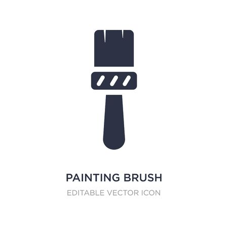 painting brush icon on white background. Simple element illustration from Art concept. painting brush icon symbol design.