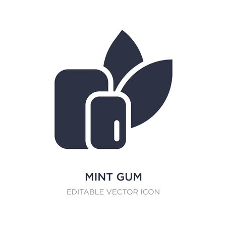 mint gum icon on white background. Simple element illustration from Dentist concept. mint gum icon symbol design.