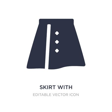 skirt with white lining icon on white background. Simple element illustration from Fashion concept. skirt with white lining icon symbol design.