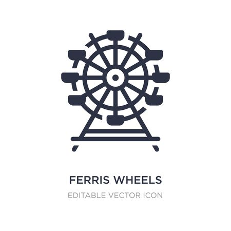 ferris wheels icon on white background. Simple element illustration from Business concept. ferris wheels icon symbol design.