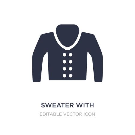 sweater with pockets icon on white background. Simple element illustration from Fashion concept. sweater with pockets icon symbol design. Иллюстрация