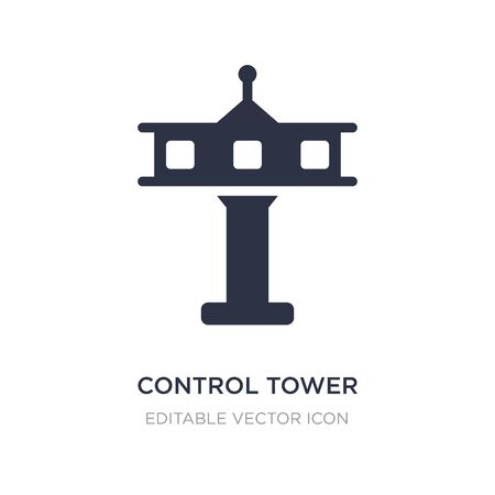 control tower icon on white background. Simple element illustration from Travel concept. control tower icon symbol design.