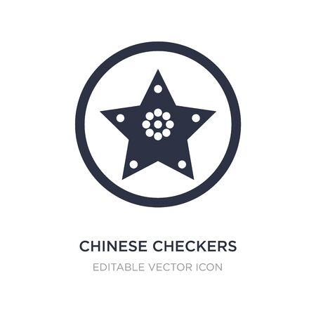 chinese checkers icon on white background. Simple element illustration from Entertainment concept. chinese checkers icon symbol design. 일러스트