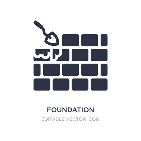 foundation icon on white background. Simple element illustration from Architecture and city concept. foundation icon symbol design. Ilustração