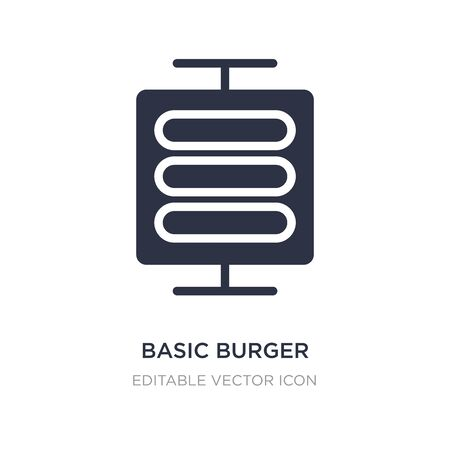 basic burger icon on white background. Simple element illustration from Business concept. basic burger icon symbol design.