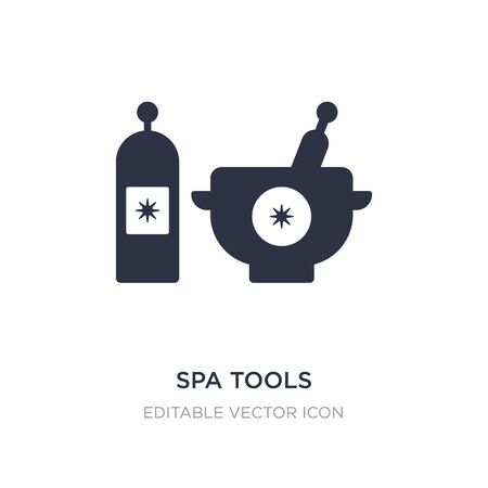 spa tools icon on white background. Simple element illustration from Beauty concept. spa tools icon symbol design. Ilustracja