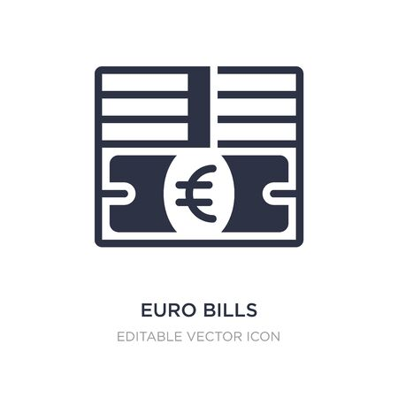 euro bills icon on white background. Simple element illustration from Business concept. euro bills icon symbol design.