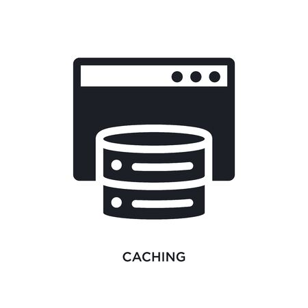 caching isolated icon. simple element illustration from technology concept icons. caching editable logo sign symbol design on white background. can be use for web and mobile Ilustracja