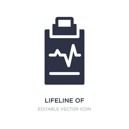 lifeline of heartbeats on a paper on a clipboard icon on white background. Simple element illustration from Medical concept. lifeline of heartbeats on a paper on a clipboard icon symbol design.