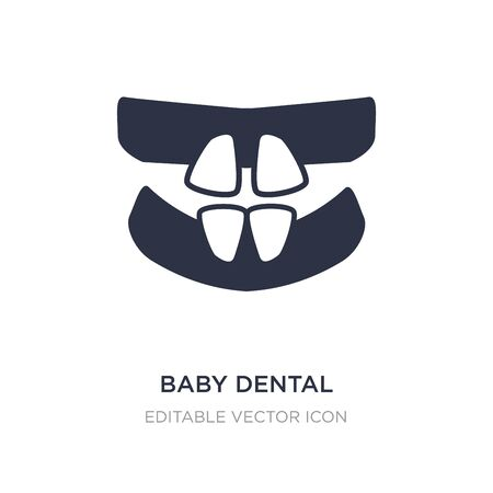 baby dental icon on white background. Simple element illustration from Dentist concept. baby dental icon symbol design.
