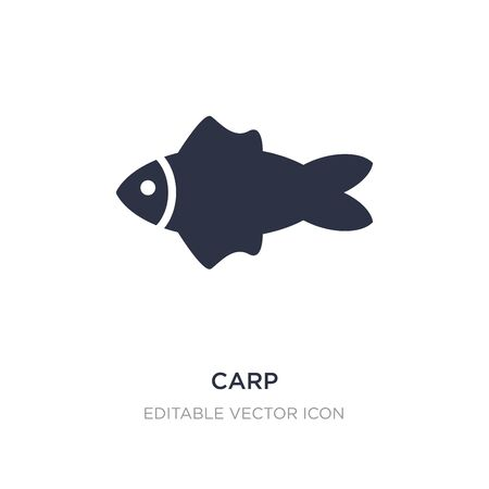 carp icon on white background. Simple element illustration from Animals concept. carp icon symbol design.