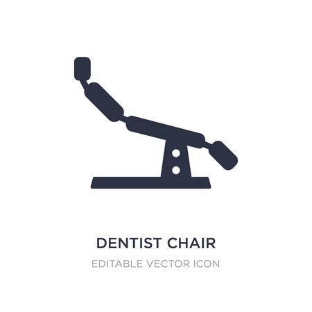 dentist chair icon on white background. Simple element illustration from Dentist concept. dentist chair icon symbol design. Illustration
