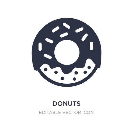 donuts icon on white background. Simple element illustration from Food concept. donuts icon symbol design.