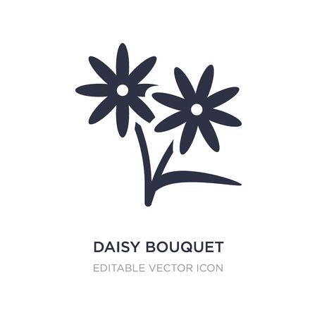 daisy bouquet icon on white background. Simple element illustration from General concept. daisy bouquet icon symbol design. 向量圖像