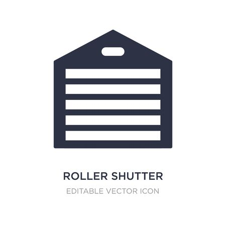 roller shutter door icon on white background. Simple element illustration from Buildings concept. roller shutter door icon symbol design.