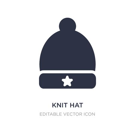 knit hat icon on white background. Simple element illustration from Fashion concept. knit hat icon symbol design.