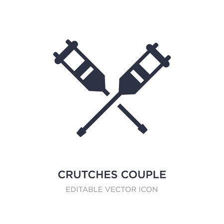 crutches couple icon on white background. Simple element illustration from Medical concept. crutches couple icon symbol design.
