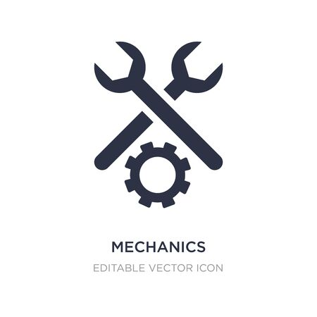 mechanics icon on white background. Simple element illustration from General concept. mechanics icon symbol design.