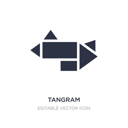 tangram icon on white background. Simple element illustration from Entertainment concept. tangram icon symbol design.