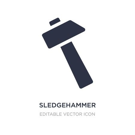 sledgehammer icon on white background. Simple element illustration from General concept. sledgehammer icon symbol design.