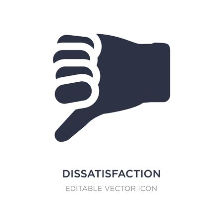 dissatisfaction icon on white background. Simple element illustration from Guestures concept. dissatisfaction icon symbol design.