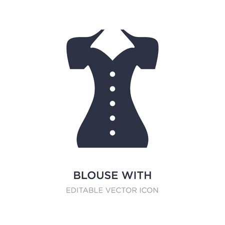 blouse with buttons icon on white background. Simple element illustration from Fashion concept. blouse with buttons icon symbol design.