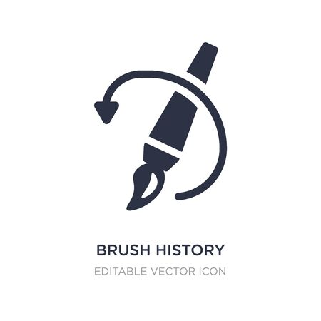 brush history icon on white background. Simple element illustration from General concept. brush history icon symbol design.