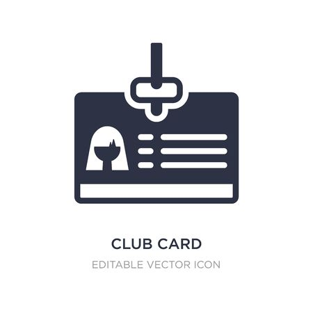 club card icon on white background. Simple element illustration from Business concept. club card icon symbol design.