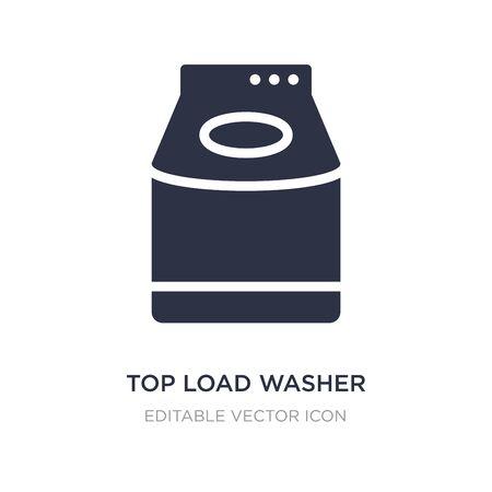 icono de lavadora de carga superior sobre fondo blanco. Ilustración de elemento simple del concepto de herramientas y utensilios. Diseño de símbolo de icono de lavadora de carga superior. Ilustración de vector