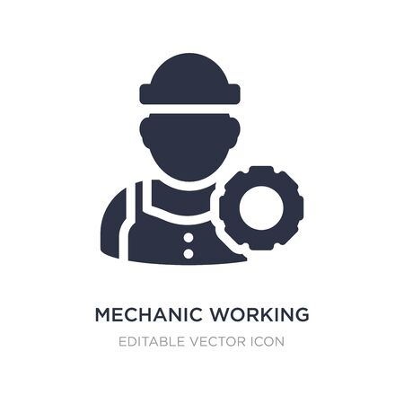 mechanic working icon on white background. Simple element illustration from Construction and tools concept. mechanic working icon symbol design.