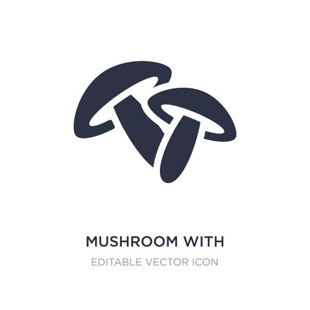 mushroom with spots icon on white background. Simple element illustration from Nature concept. mushroom with spots icon symbol design.