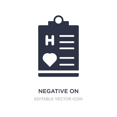 negative on medical clipboard icon on white background. Simple element illustration from Medical concept. negative on medical clipboard icon symbol design. Ilustração