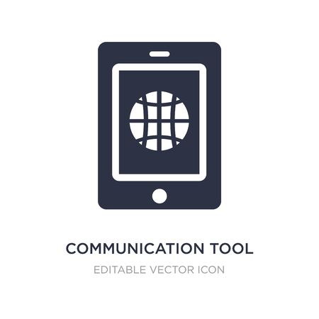 communication tool icon on white background. Simple element illustration from Web concept. communication tool icon symbol design.