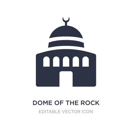 dome of the rock icon on white background. Simple element illustration from Monuments concept. dome of the rock icon symbol design.