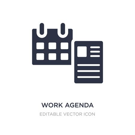 work agenda icon on white background. Simple element illustration from General concept. work agenda icon symbol design.