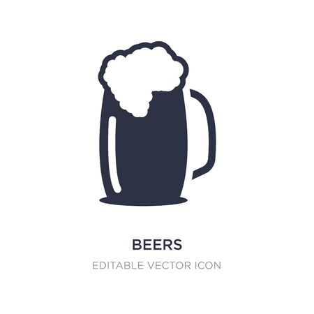 beers icon on white background. Simple element illustration from Food concept. beers icon symbol design.