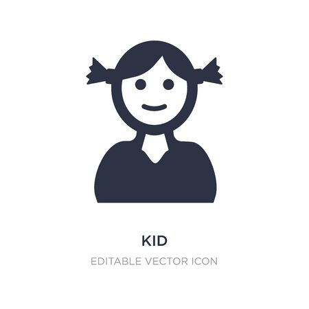 kid icon on white background. Simple element illustration from Education concept. kid icon symbol design. 일러스트