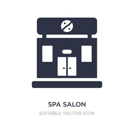 spa salon icon on white background. Simple element illustration from Buildings concept. spa salon icon symbol design.