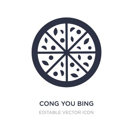 cong you bing icon on white background. Simple element illustration from Food and restaurant concept. cong you bing icon symbol design. Иллюстрация