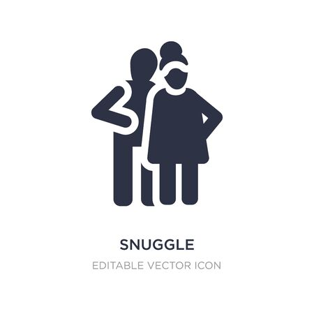 snuggle icon on white background. Simple element illustration from People concept. snuggle icon symbol design.
