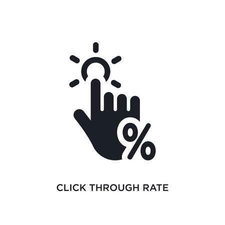 click through rate isolated icon. simple element illustration from technology concept icons. click through rate editable sign symbol design on white background. can be use for web and mobile