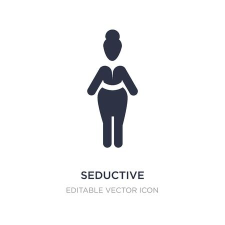 seductive icon on white background. Simple element illustration from People concept. seductive icon symbol design.