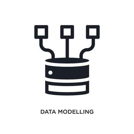 data modelling isolated icon. simple element illustration from technology concept icons. data modelling editable sign symbol design on white background. can be use for web and mobile
