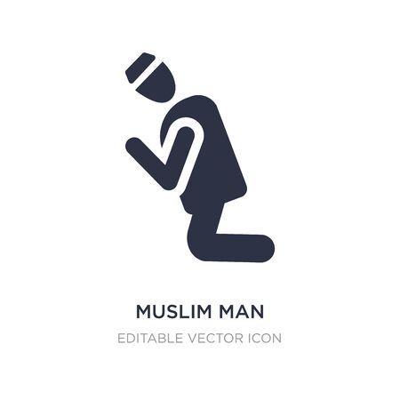 muslim man icon on white background. Simple element illustration from People concept. muslim man icon symbol design. Иллюстрация